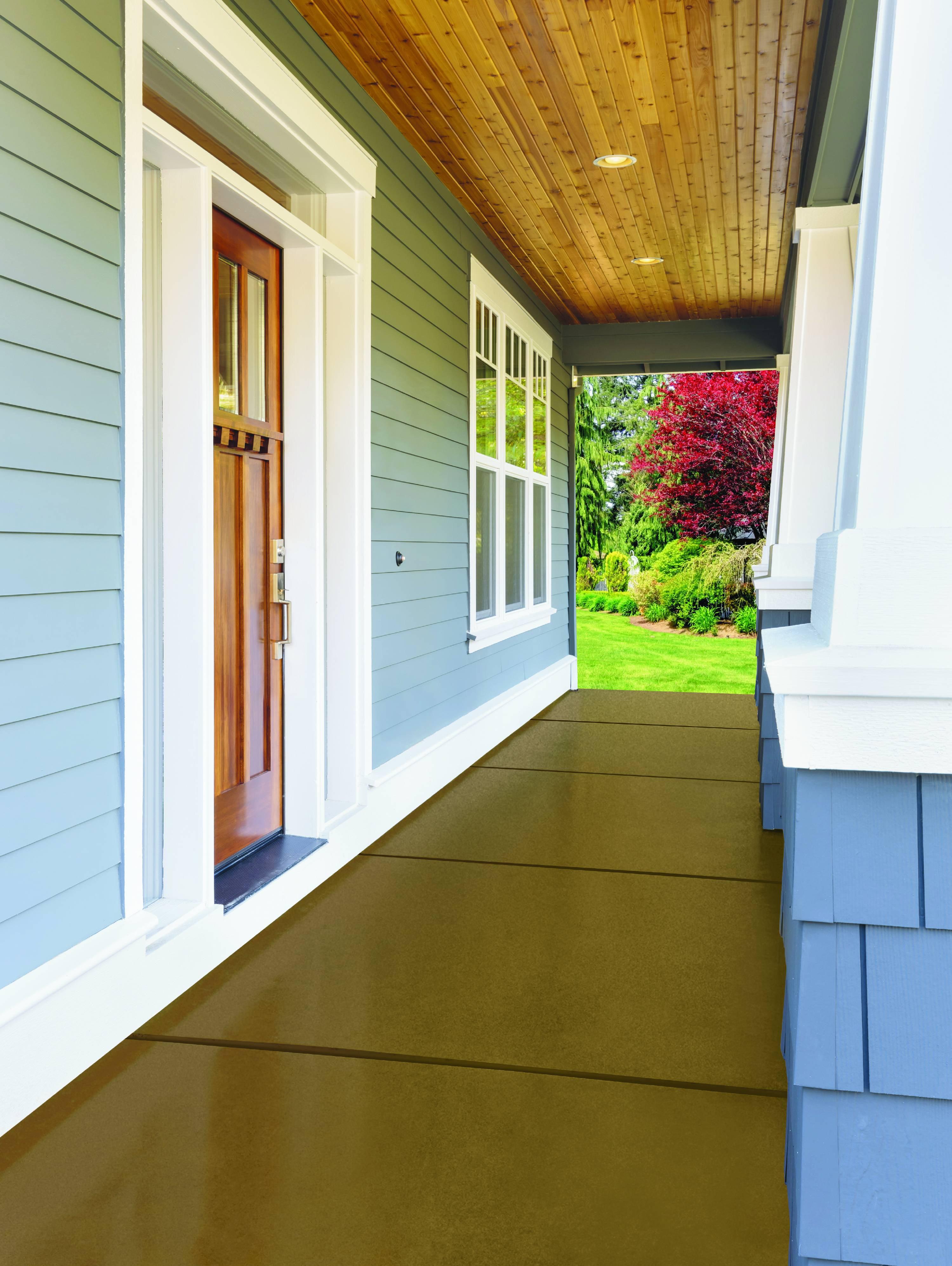 Glidden Porch Floor Paint And Primer Grab N Go Satin Finish Brown 1 Gallon