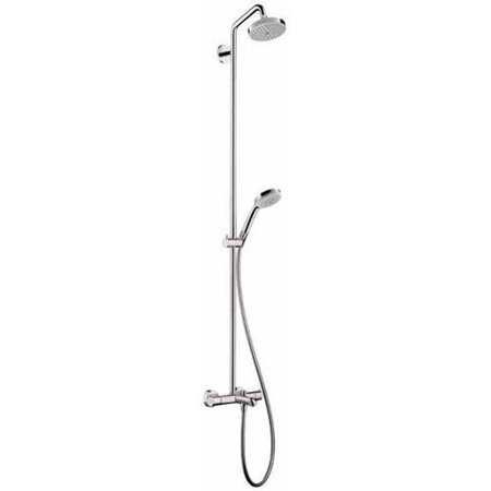 Hansgrohe 27143821 Croma Green Showerpipe Shower System, Eco Right 2.0GPM, Various Colors