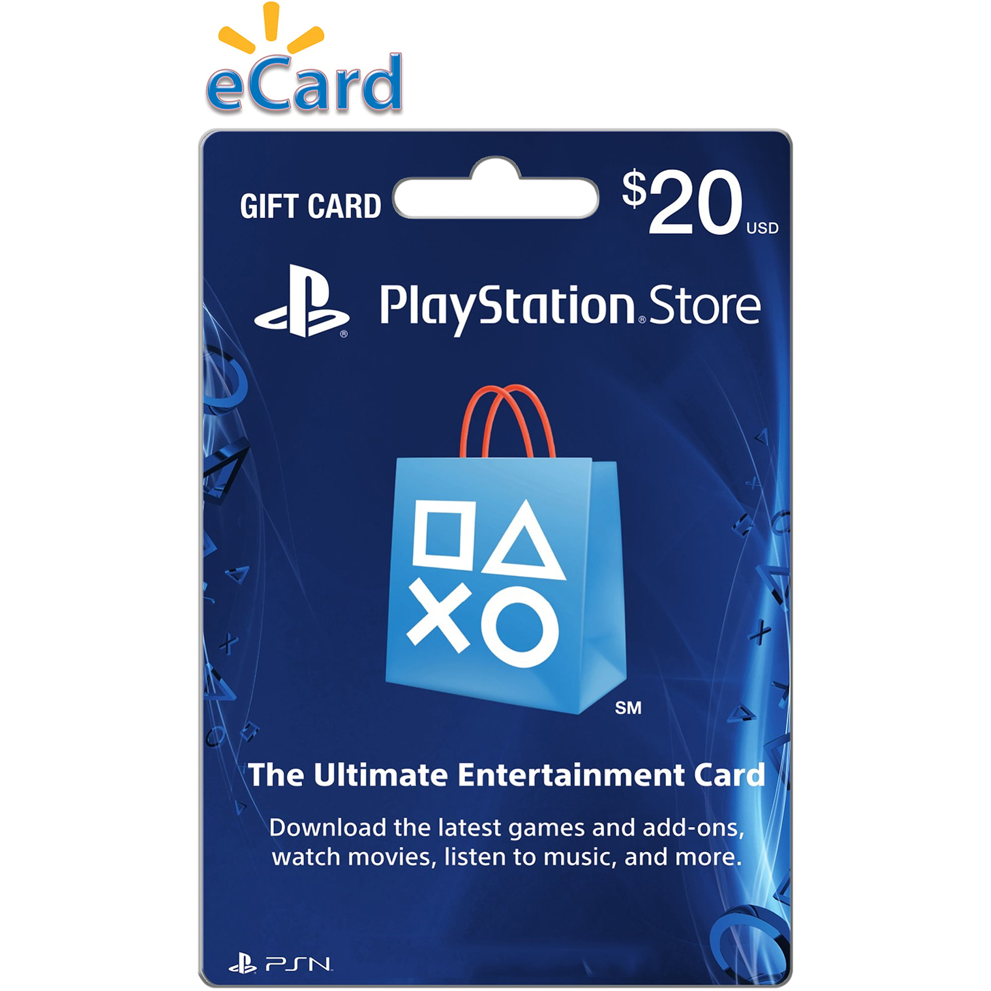 $20 PlayStation Store Gift Card, Sony, [Digital Download], 799366781035 by INTERACTIVE COMMUNICATIONS