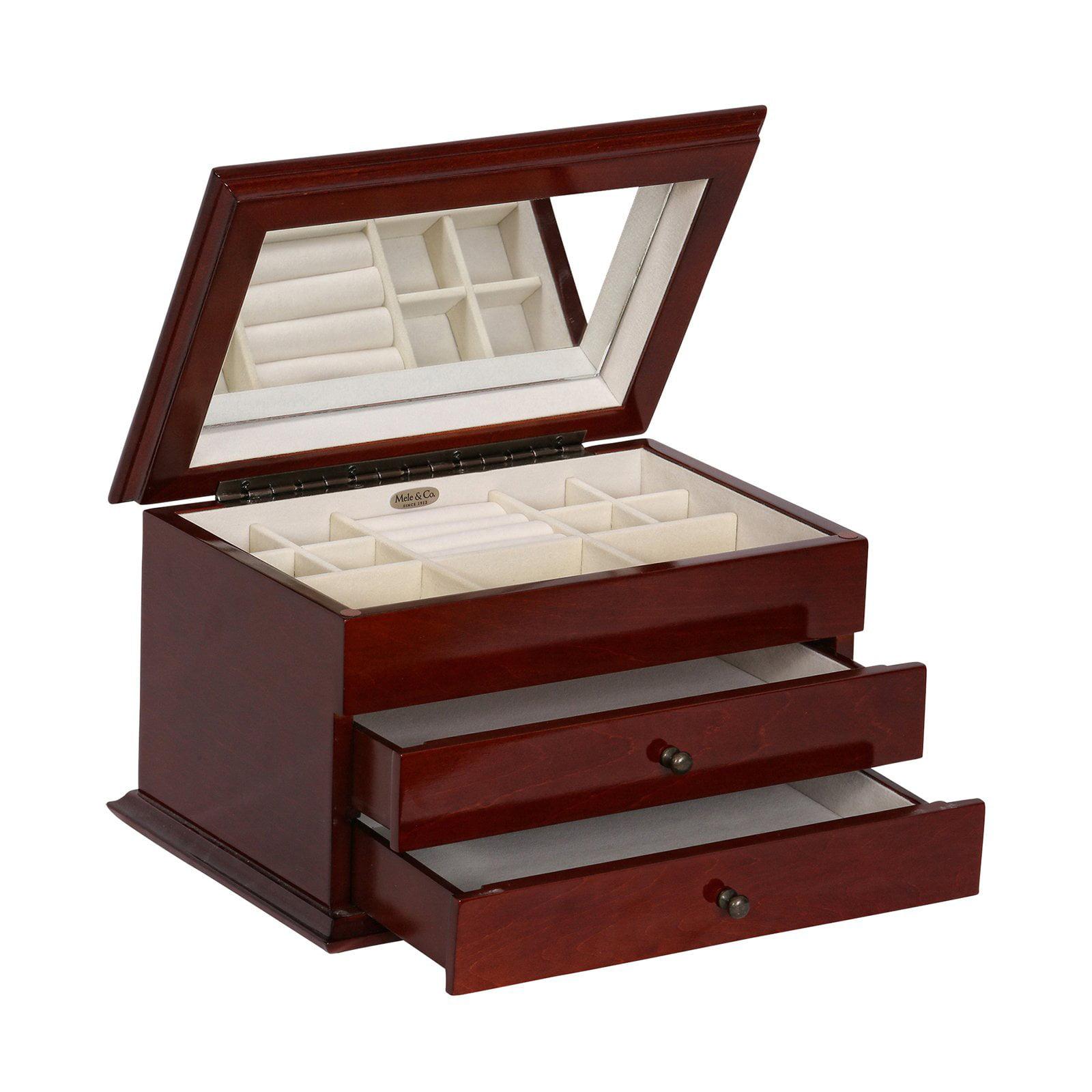 Mele & Co. Brayden Wooden Jewelry Box - Walnut