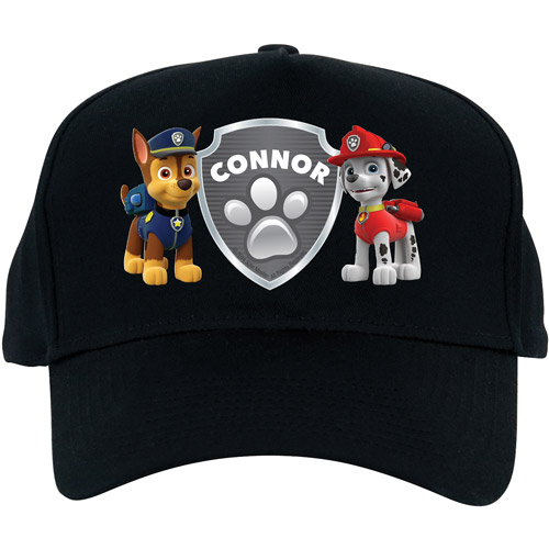 Personalized PAW Patrol Badge of Honor Black Baseball Hat