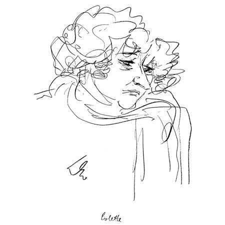 Claudine Collection (Colette (1873-1954) Npen Name Of Sidonie Gabrielle Claudine Colette French Writer Drawing By BF Dolbin Poster Print by Granger Collection)