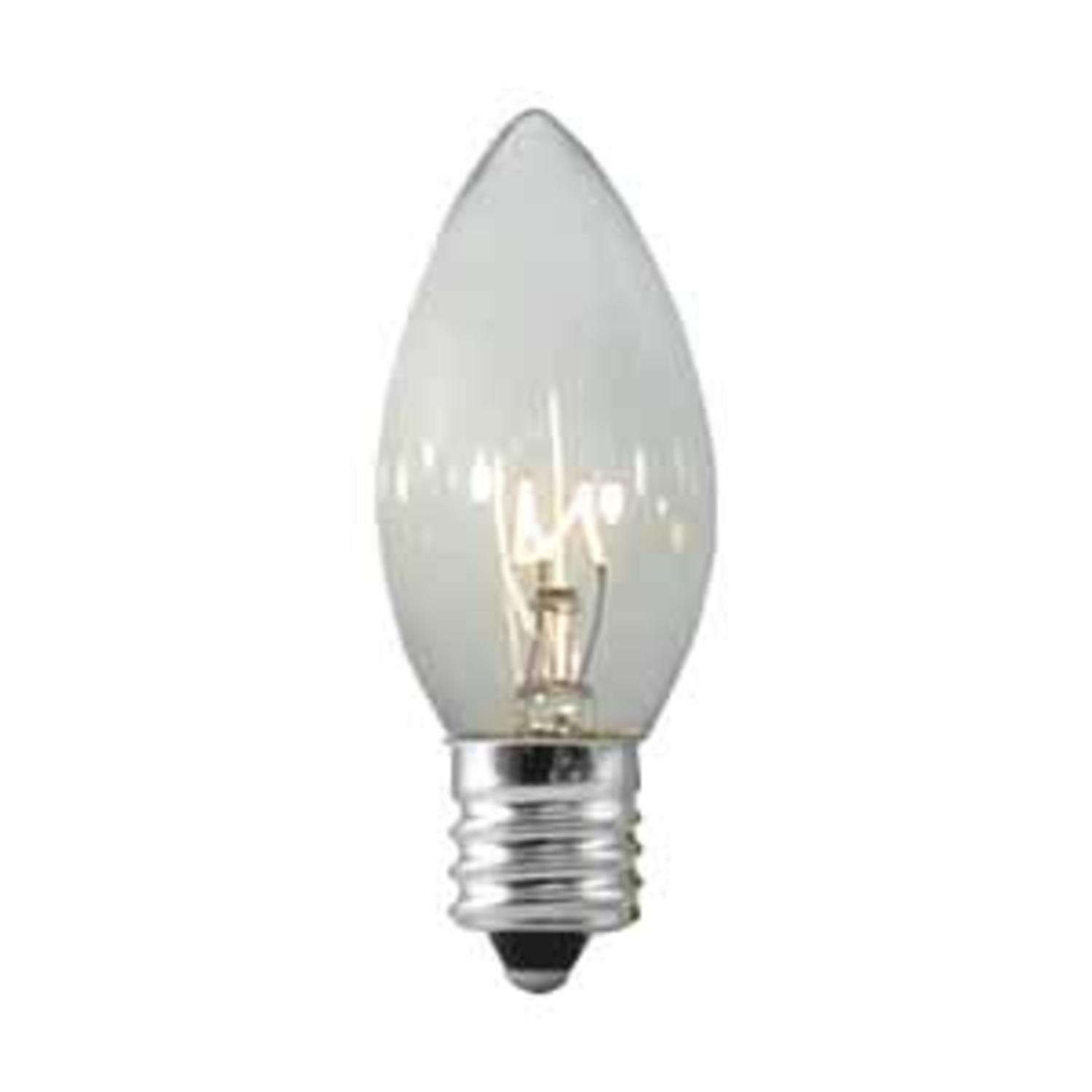 Club Pack of 100 C9 Transparent Clear Replacement Christmas Light Bulbs