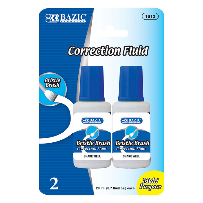 BAZIC 20ml / 0.7 fl. oz. Correction Fluid (2/Pack), Box of 24