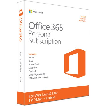 Microsoft Office 365 Personal 32 64 Bit 1 Year Subscription