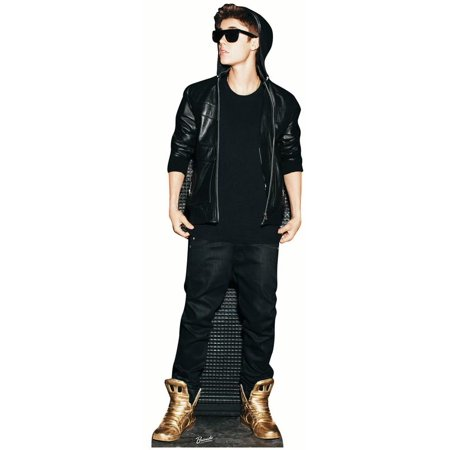 Star Cutouts Justin Bieber Gold Shoes Cardboard Cutout Life Size Standup - Justin Bieber Fan Halloween Costumes