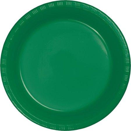 Creative Converting Emerald Green Plastic Banquet Plates, 20 ct - Green Plastic Plates