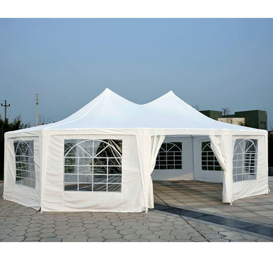 Outsunny 29 x 20 ft. Decagon Wedding Party Gazebo Canopy Tent by Aosom LLC