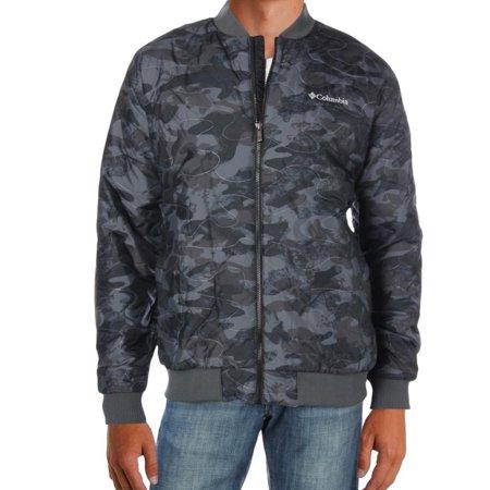 Columbia Mens Large Full-Zip Camo Print Bomber Jacket ()