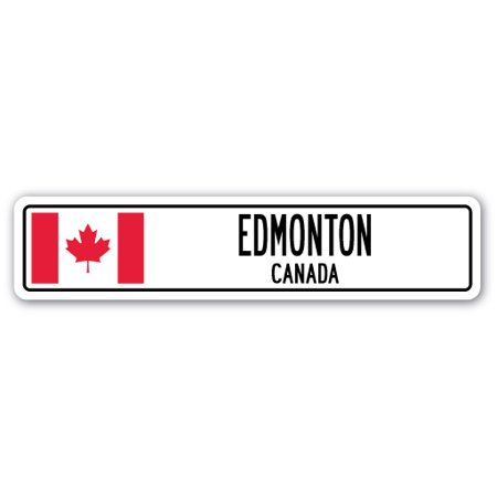 Party City Hours Edmonton (EDMONTON, CANADA Street Sign Canadian flag city country road wall)