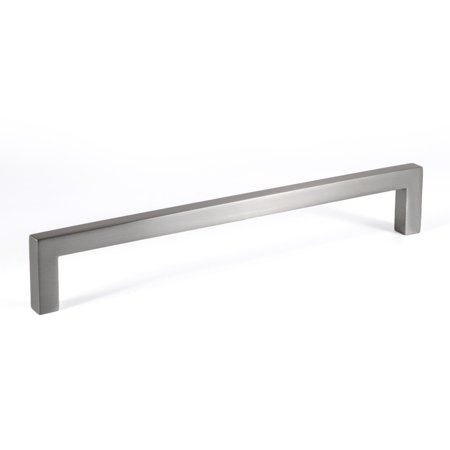 Zinc Brush (Celeste Designs Square Bar Pull Modern Cabinet Handle Brushed Nickel Solid Zinc 9mm 8