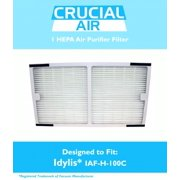 "1 Pack of Crucial Air Replacement Filter Compatible with Idylis C Filter Air Purifier Parts 1.4"" x 6.7"" x 11.8"" Pair with Hepa Style Filters Part IAP-10-200, IAP-10-280"