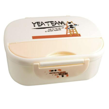 Unique Bargains Unique Bargains Cartoon Cow Pattern Plastic Cheese Pot Food Holder Lunch Box w White - Pot Cheese