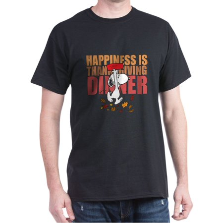 Peanuts Happiness Thanksgiving Dinner - 100% Cotton T-Shirt - Peanuts Thanksgiving