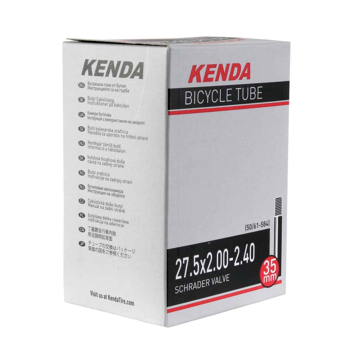 "Kenda 29/""x 2.0-2.40/"" Schrader Valve MTB Bike Tube 35 or 48mm Valve Length"