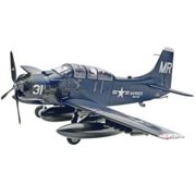 Skyraider Ad-5 (a-1e) 1/48 Scale Glue And Paint Model Kit