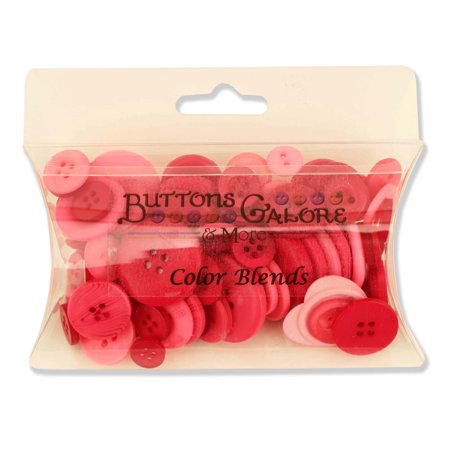 Buttons Galore CB107 Color Blend Buttons, 3-Ounce, Berrylicious, 3 Shades of Berry Red