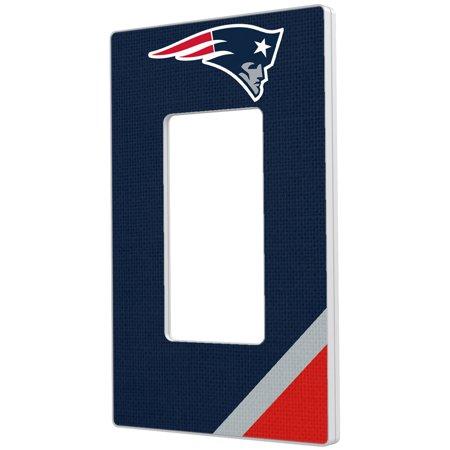 New England Patriots Diagonal Stripe Single Rocker Light Switch Plate - No Size - New England Glider