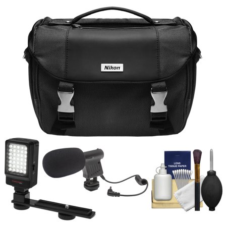 Cheap Offer Nikon Deluxe Digital SLR Camera Case with LED Light & Bracket + Microphone Kit for D3200, D3300, D5300, D5500, D7100, D7200, D610, D750, D810 Before Too Late