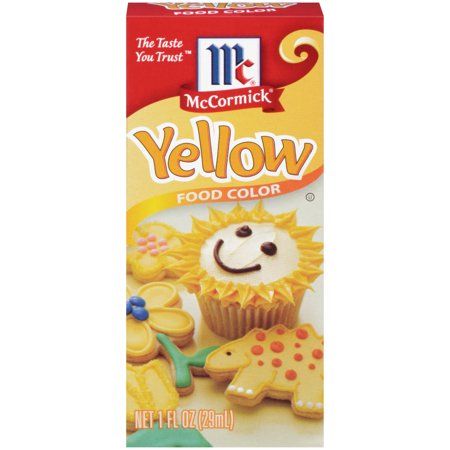 (2 Pack) McCormick Yellow Food Color, 1 fl oz](Halloween Food Coloring)