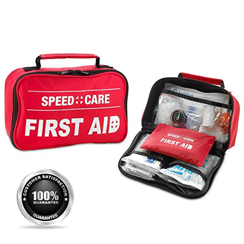 Click here to buy First Aid Kit 152 Piece 2-in-1 1st Aid Kit and Emergency FDA Approved First Aid Survival Kit for Home, Travel, Business, Camping, Sports,... by MEDca.