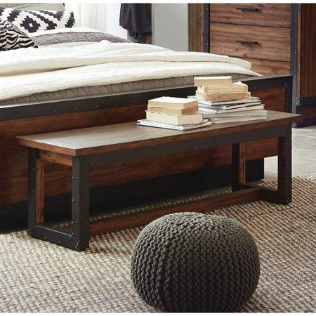 Awesome Scott Living Ellison Wood Bedroom Bench Machost Co Dining Chair Design Ideas Machostcouk