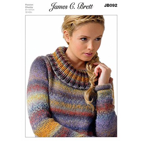 Sweater in James C. Brett Passion Chunky JB092 Knitting