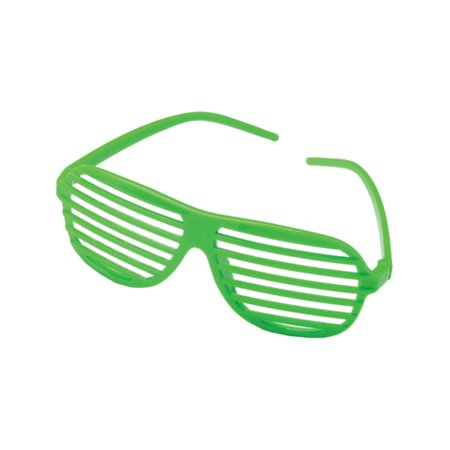 Green 80's Shutter Shade Toy Novelty Sunglasses Party Favors Costume Accessory