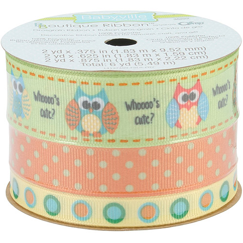 Babyville Boutique Ribbon Packs, Three Sizes, 6 yd