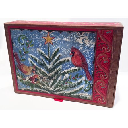 LPG Greetings Winter Nest Collection with Keepsake Box - Box of 20 Assorted Christmas