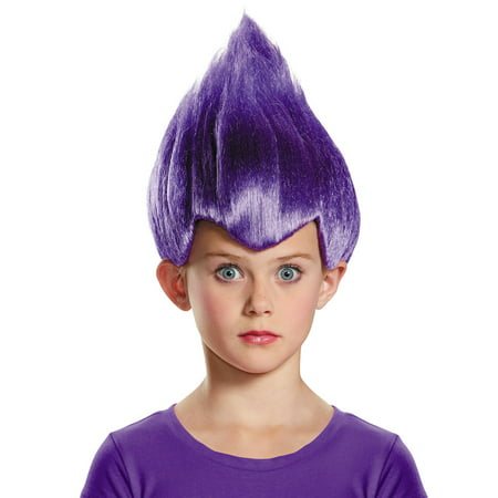 Child's Pointy Wacky Troll Inside Out Purple Wig Costume Accessory