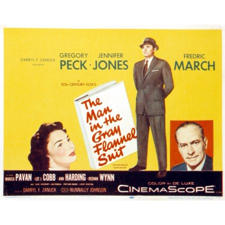 The Man In The Gray Flannel Suit Jennifer Jones Gregory Peck Frederic March 1956 Tm And Copyright  20Th Century Fox Film Corp All Rights Reserved Courtesy Everett Collection Movie (Gregory Grey)