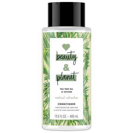 Natures Gate Tea Tree Conditioner - Love Beauty And Planet Radical Refresher Tea Tree Conditioner, Tea Tree Oil & Vetiver 13.5 oz