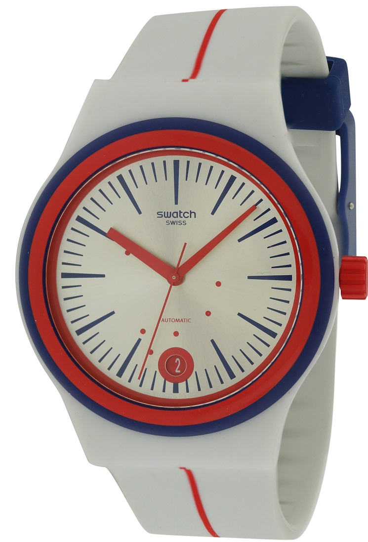 Swatch SISTEM ARLEQUIN Silicone Automatic Mens Watch SUTW402 by Swatch