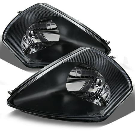 Fit 2000-2005 Mitsubishi Eclipse Black Bezel Headlights Headlamps  -