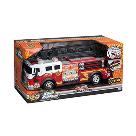 Toy State 14 Rush And Rescue Police And Fire - Hook And Ladder Fire Truck