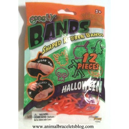 Googly Googly (Googly Halloween Crazy Rubber Bands Bracelets, 12 shaped rubber bands By Googly)