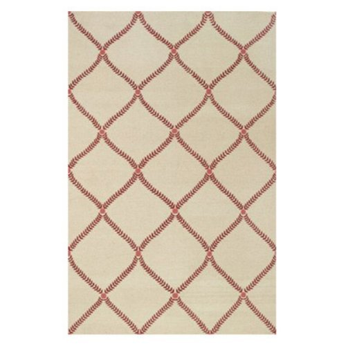Capel Parable 1645RS0 Area Rug - Red - 7 x 9 ft.