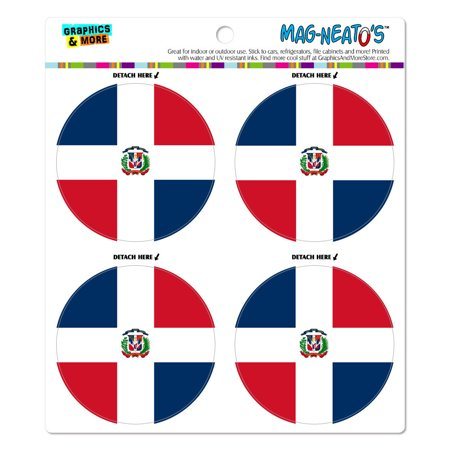 The Dominican Republic National Country Flag MAG-NEATO'S(TM) Car/Refrigerator Magnet Set