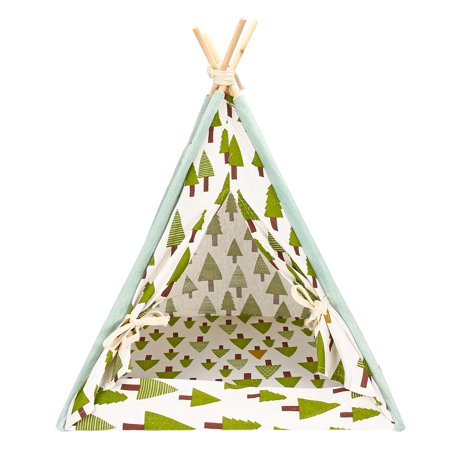 Bestller Portable Pet Teepee Dog Cat Puppy Folding Linen Washable Tent