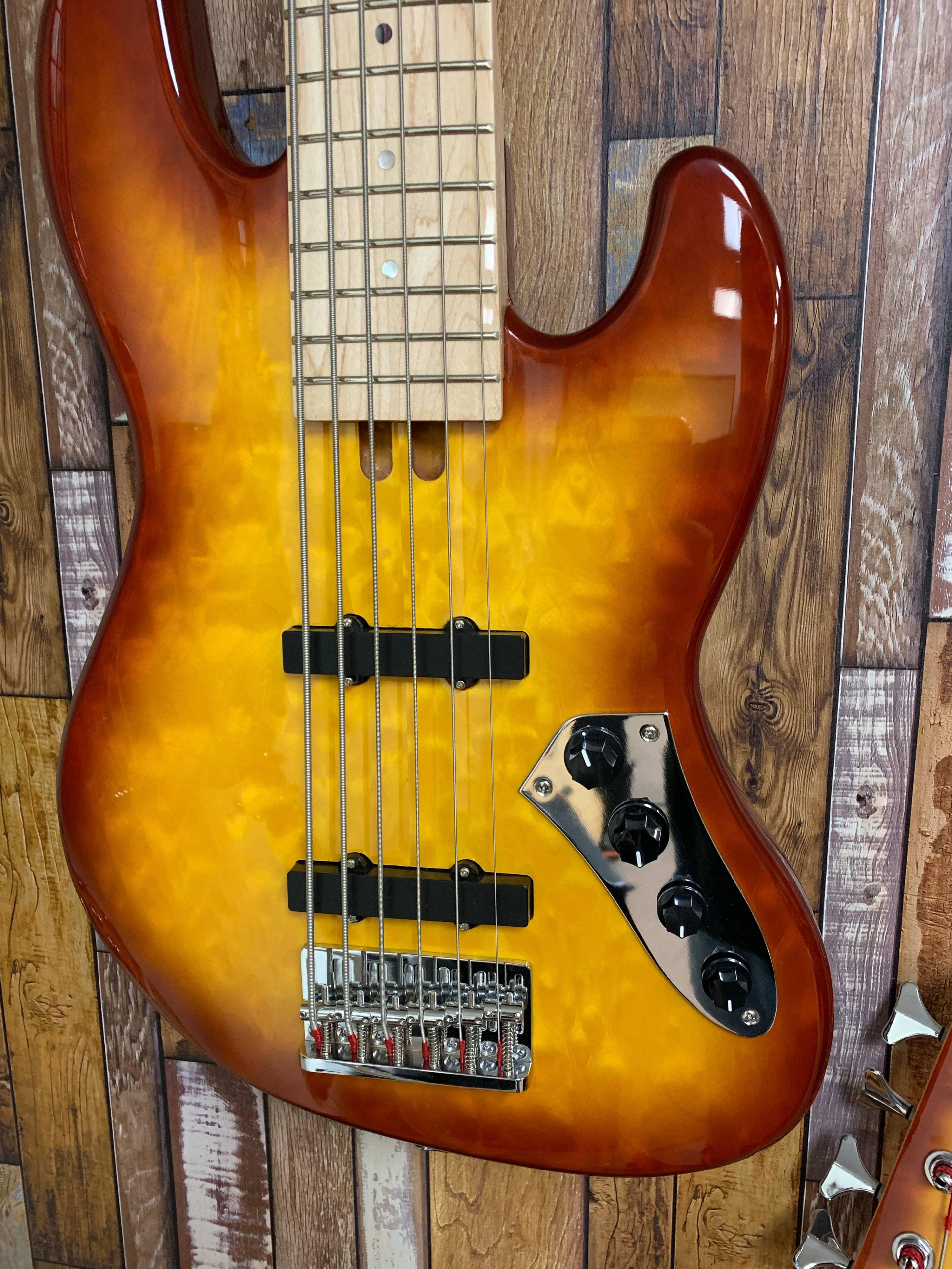 Allen Eden Disciple 6 Deluxe Bass Guitar with EC240ABS Bass Case by