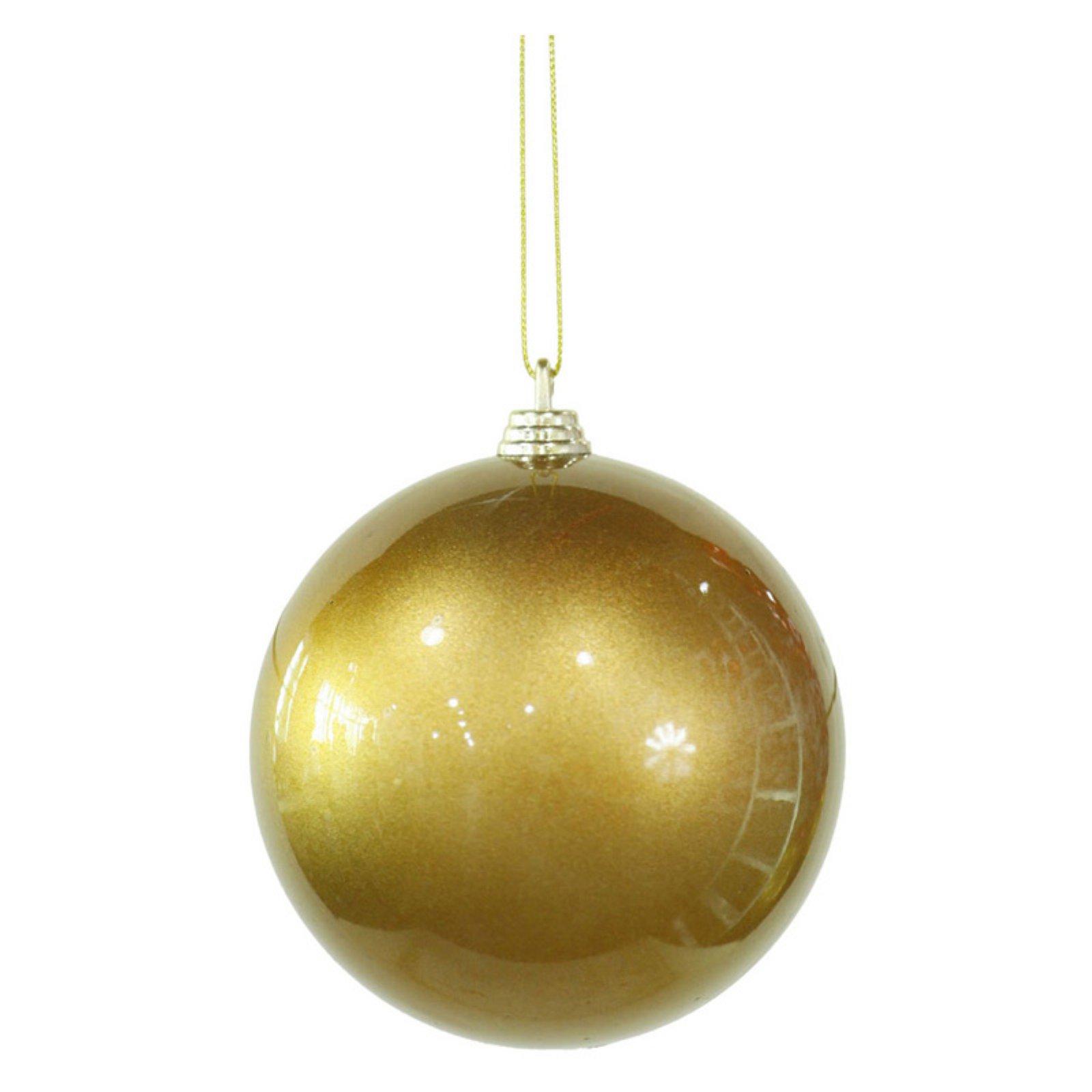 "Vickerman 4"" Candy Finish Ball Christmas Ornaments, Pack of 4"