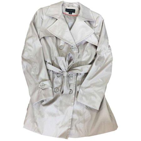 Womens Khaki Tan Lightweight Windbreaker Jacket Trench Coat Large