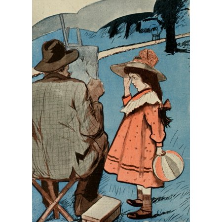 En Rose - Sancha La Vie en Rose 1903 Can I help you Papa Canvas Art -  (18 x 24)