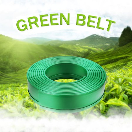 Bestller 32FT PE Terrace Board Landscape Edging Coil Grass Edging Fence Belt Border Garden Lawn Stone Isolation Path ()