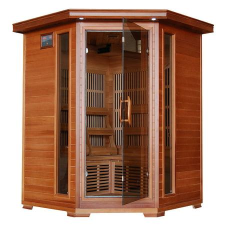 Radiant Sauna 3 Person Cedar Corner Infrared Sauna