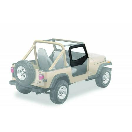 Bestop Upper Door Skins Jeep 88-95 Wrangler; Fit existing factory upper door frames; no door rails or frames included 53120-15