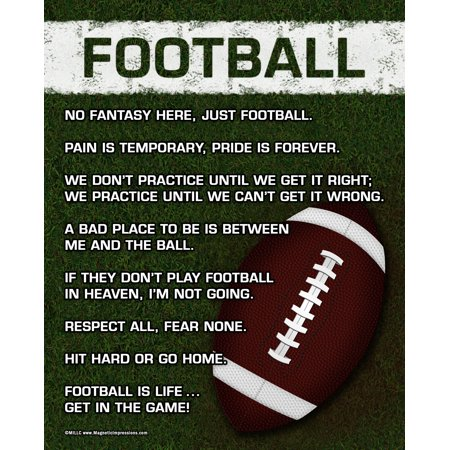 Unframed Football On Field 8