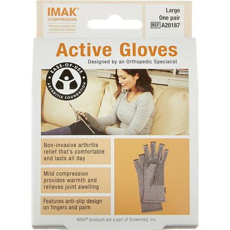 IMAK Compression Active Arthritis Gloves, Large 1