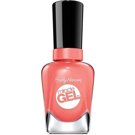 Sally Hansen Miracle Gel Nail Polish, Malibu Peach 0.50 oz (Pack of